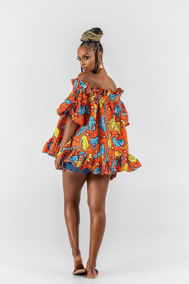 Grass-Fields Matching Sets African Print Habibatou Top