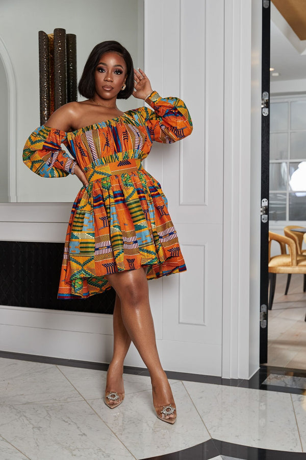Grass-Fields Matching Sets African Print Hiari Dress