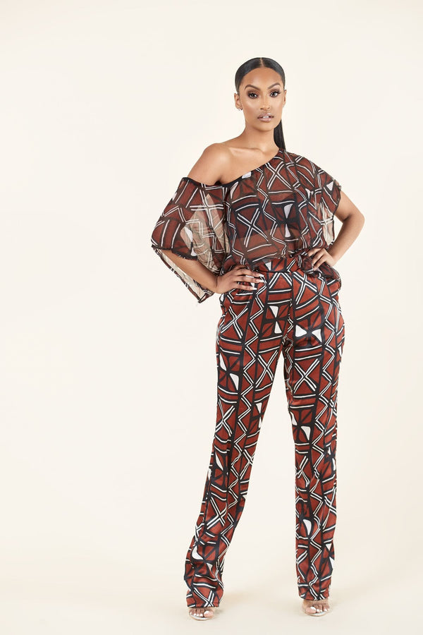 Grass-fields Matching Sets African Print Jemma Top
