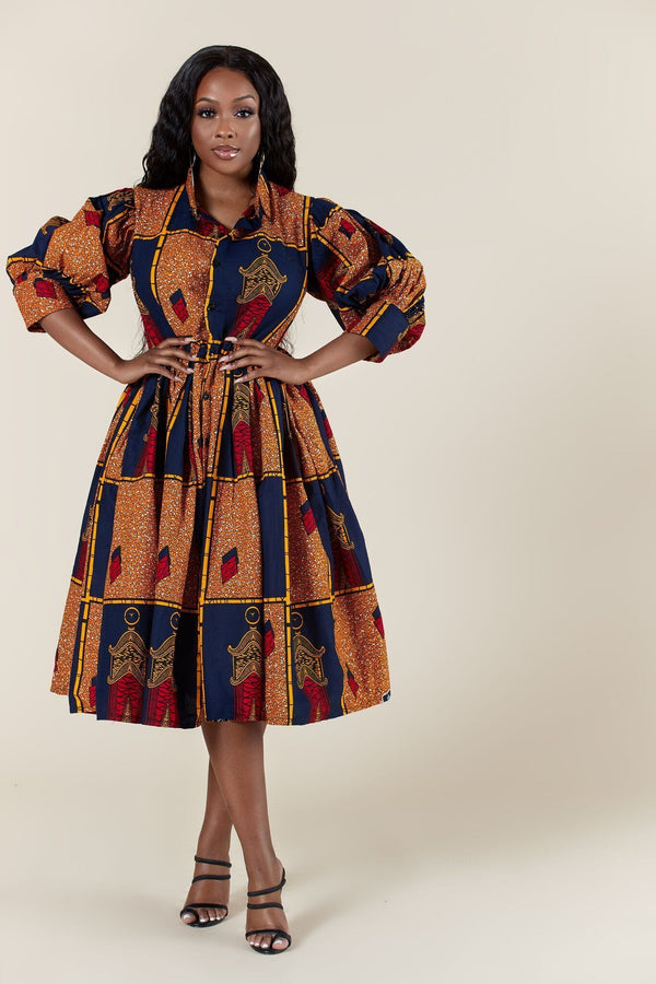 Grass-Fields Matching Sets African Print Kenda Dress