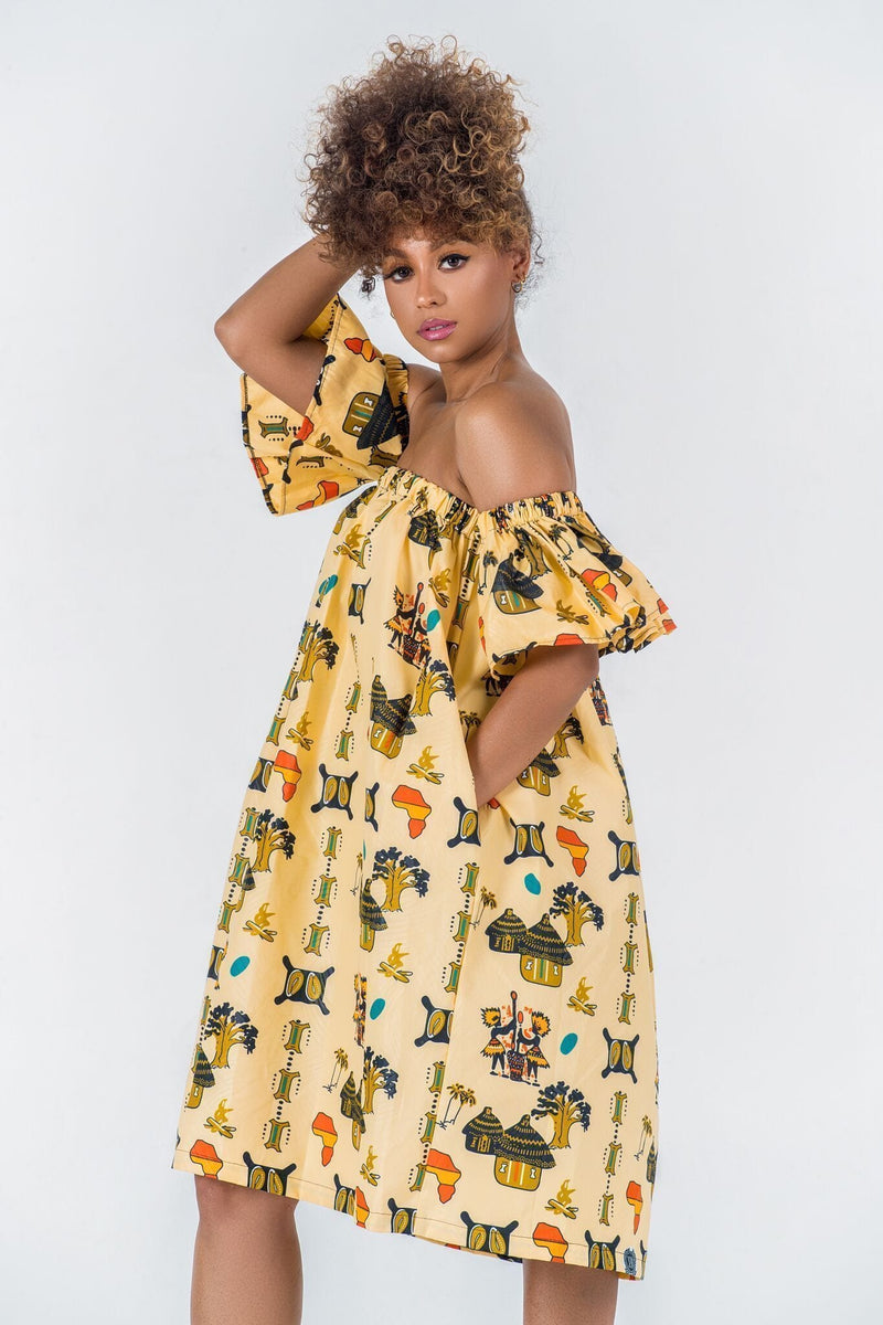 Grass-Fields Matching Sets African Print Lika Dress