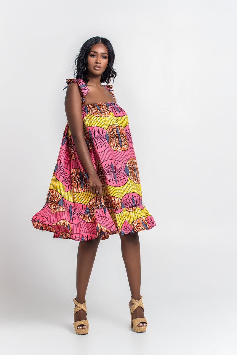 Grass-Fields Matching Sets African Print Maleah Dress