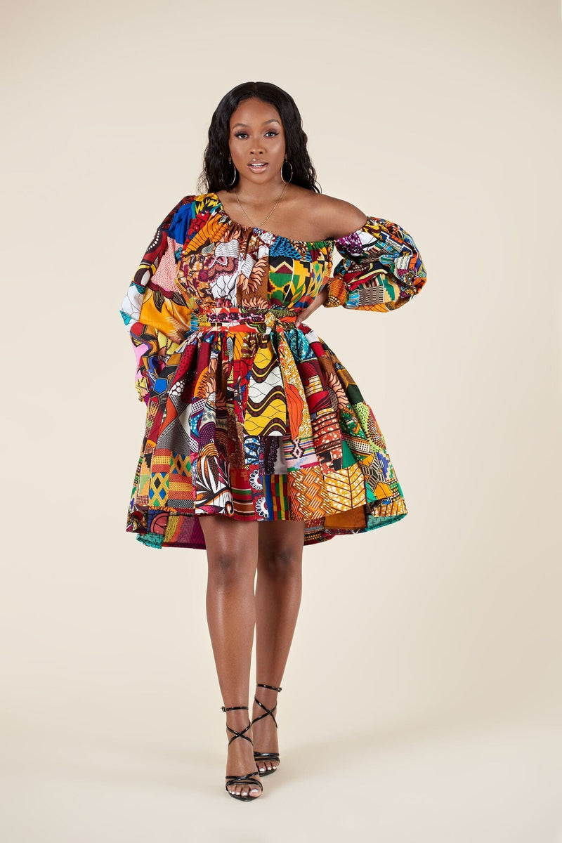 Grass-Fields Matching Sets African Print Marjani Dress