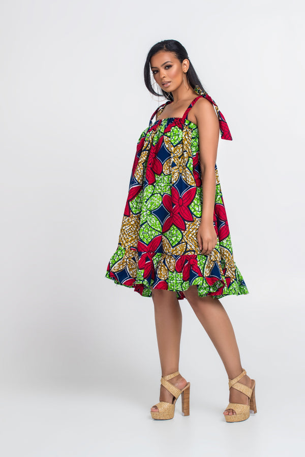 Grass-Fields Matching Sets African Print Mellisen Dress