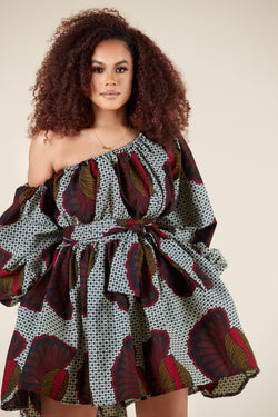 Grass-Fields Matching Sets African Print Nakeisha Dress
