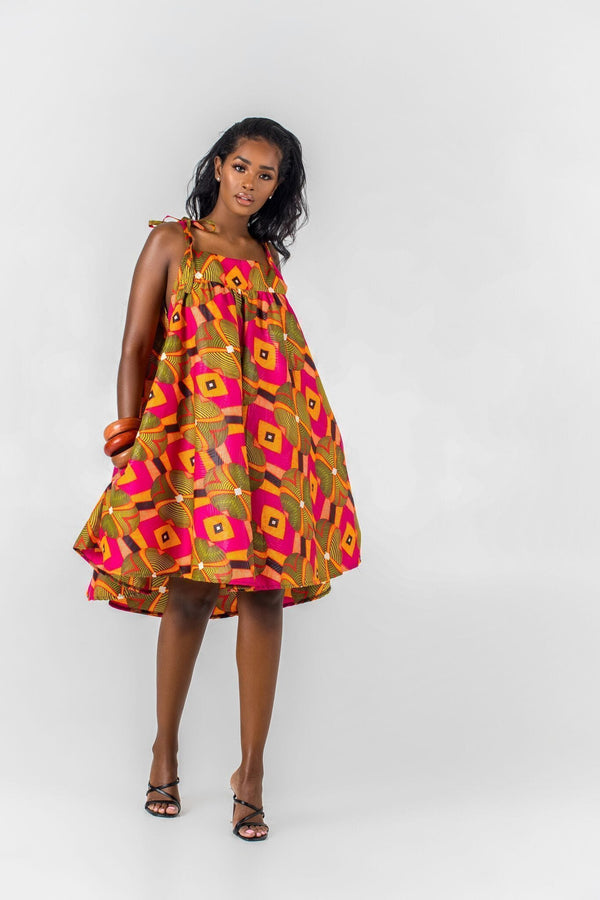 Grass-Fields Matching Sets African Print Philomene Dress