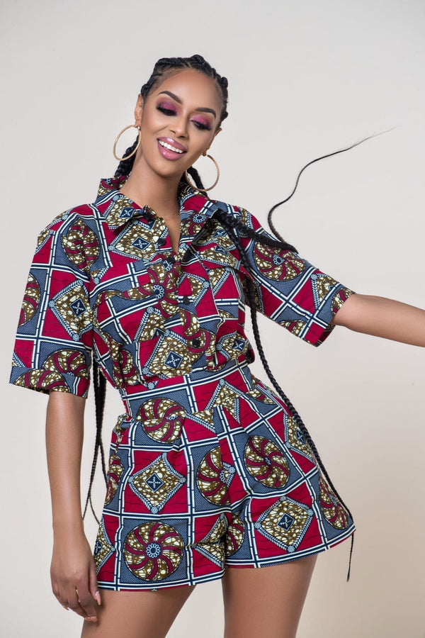 Grass-Fields Matching Sets African Print Pichou Shirt