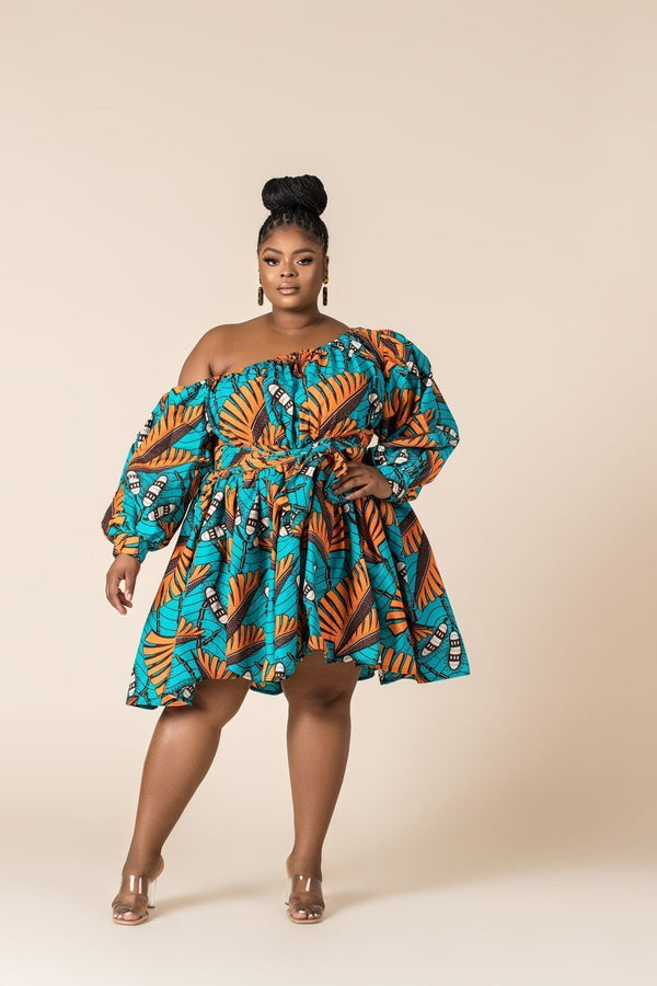 Grass-Fields Matching Sets African Print Rika Dress