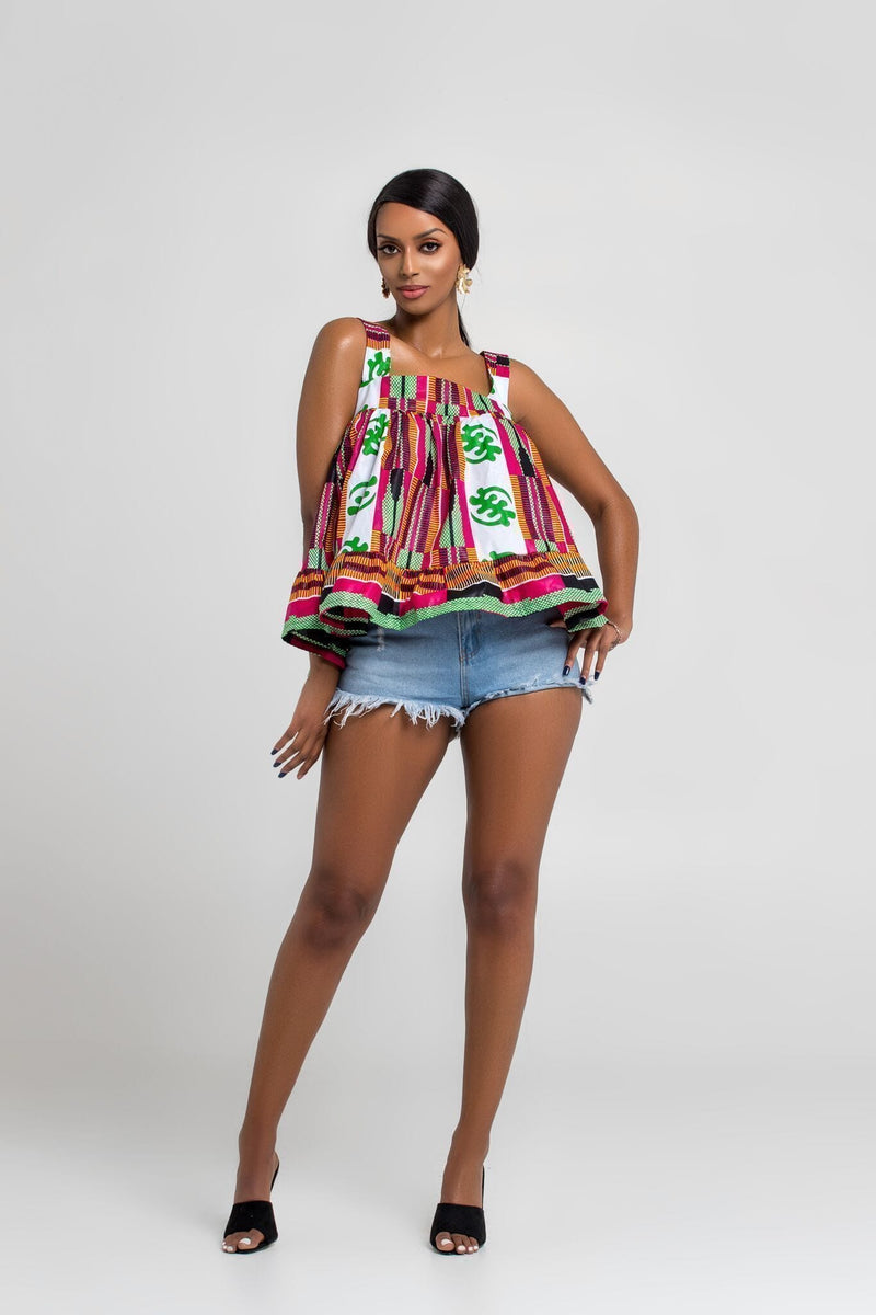 Grass-Fields Matching Sets African Print Unima Top