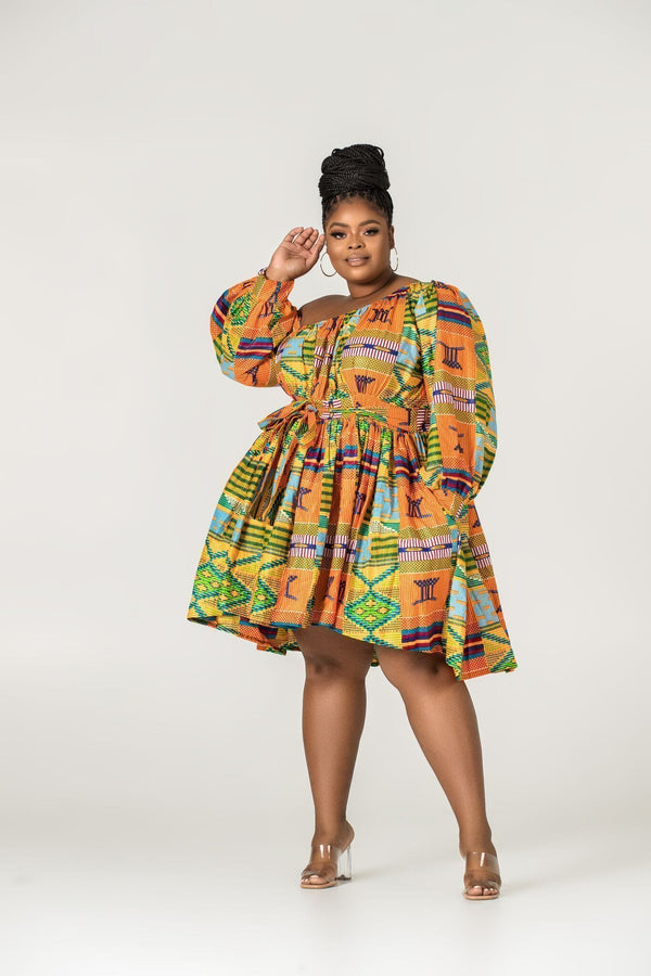 Grass-Fields Matching Sets African Print Valleta Dress