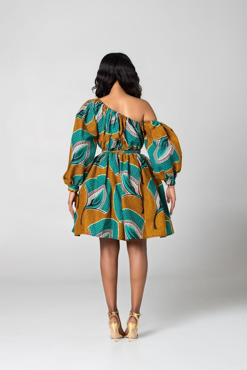 Grass-Fields Matching Sets Limited Cecile African Print Dress