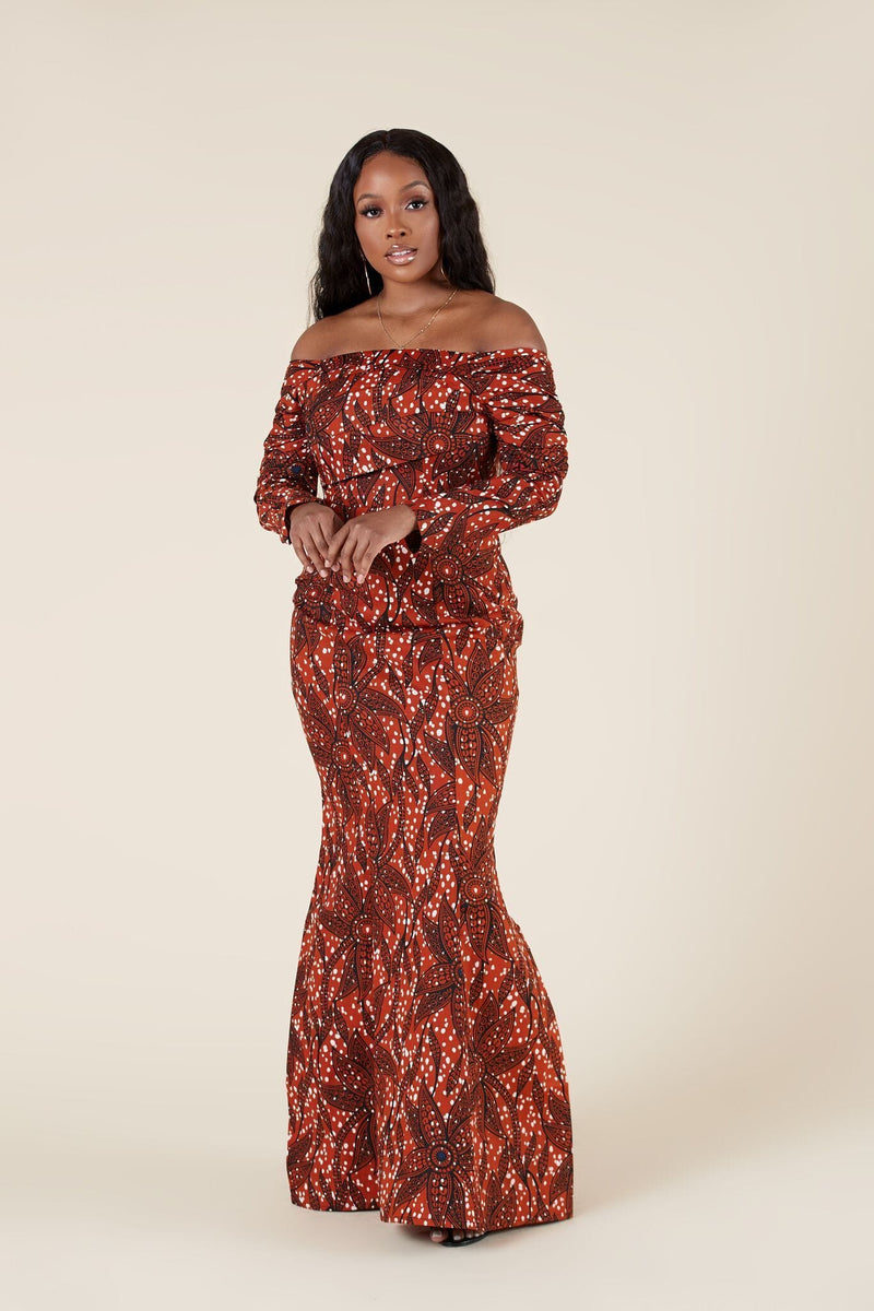 Grass-Fields Maxi Dresses African Print Ada Maxi Dress