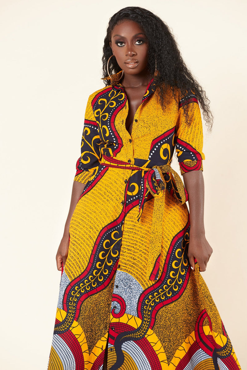 African Print Amelie Maxi Dress