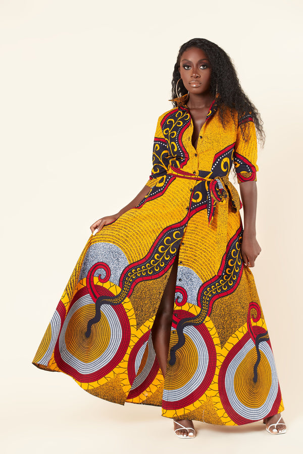 Grass-Fields Maxi Dresses African Print Amelie Maxi Dress