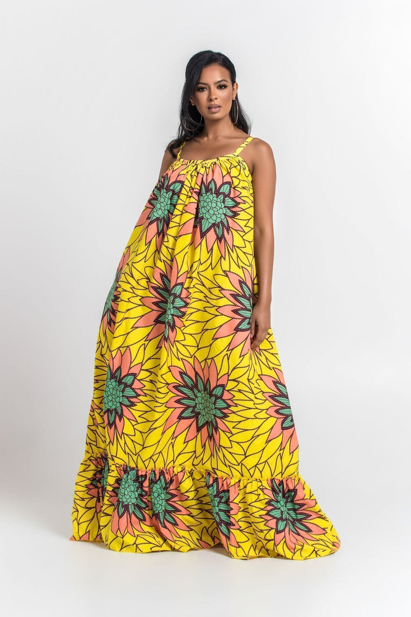 Grass-Fields Maxi Dresses African Print Colette Maxi Dress