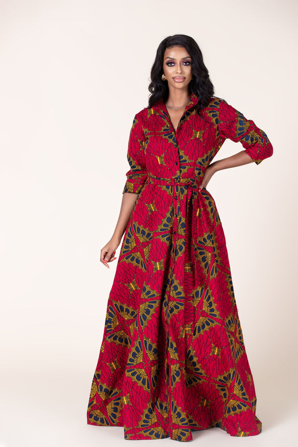 Grass-Fields Maxi Dresses African Print Eliza Maxi Dress