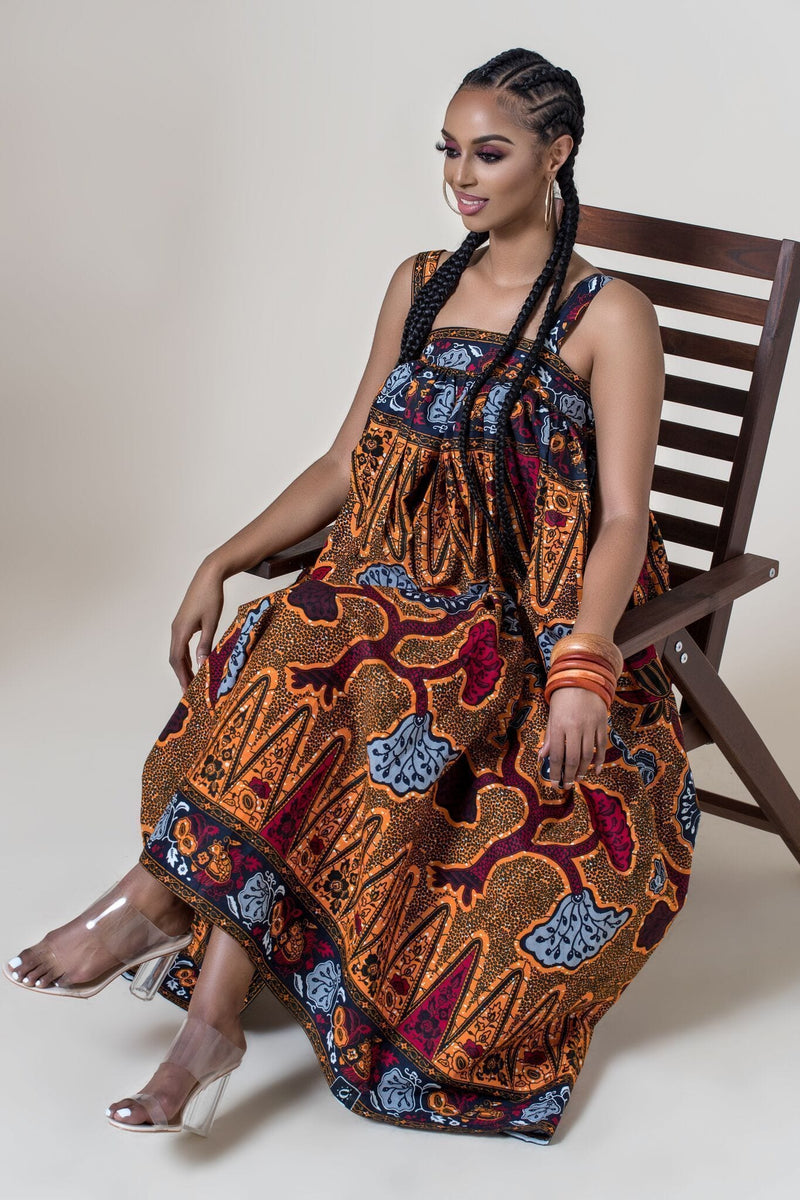 Grass-Fields Maxi Dresses African Print Eria Dress
