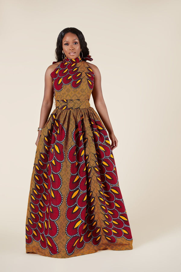 Grass-Fields Maxi Dresses African Print Fanaka Maxi Dress