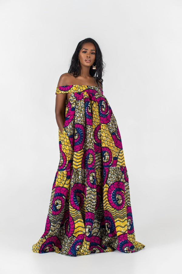 Grass-Fields Maxi Dresses African Print Nanala Maxi Dress