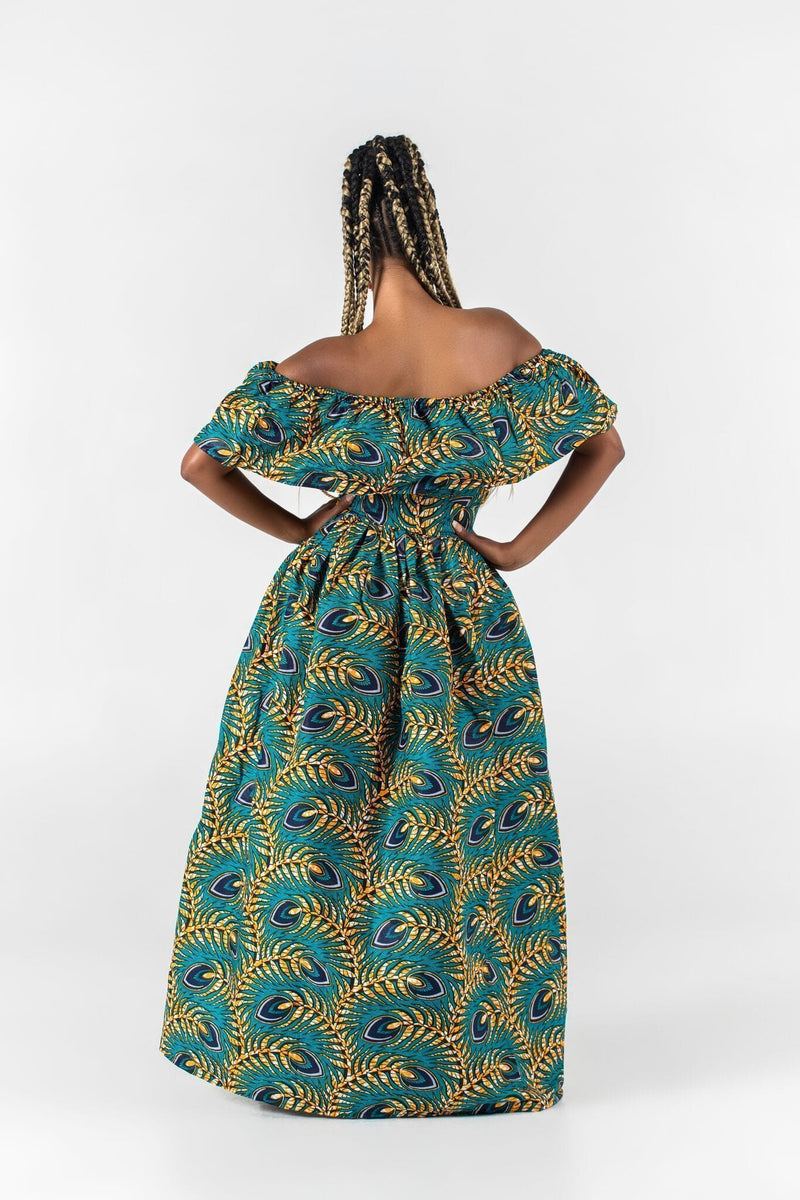 Grass-Fields Maxi Dresses African Print Oliwia Maxi Dress