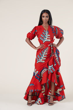 African Print Solenne Maxi Dress