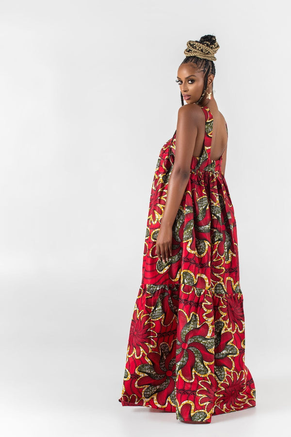 Grass-Fields Maxi Dresses African Print Wisia Maxi Dress