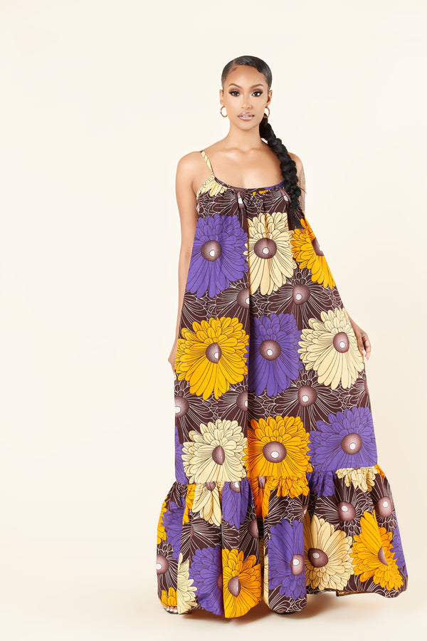 Grass-Fields Maxi Dresses African Print Zola Maxi Dress