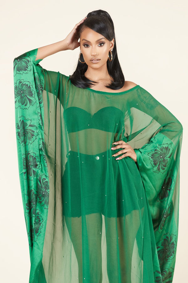 Grass-Fields Maxi Dresses Eru Kaftan