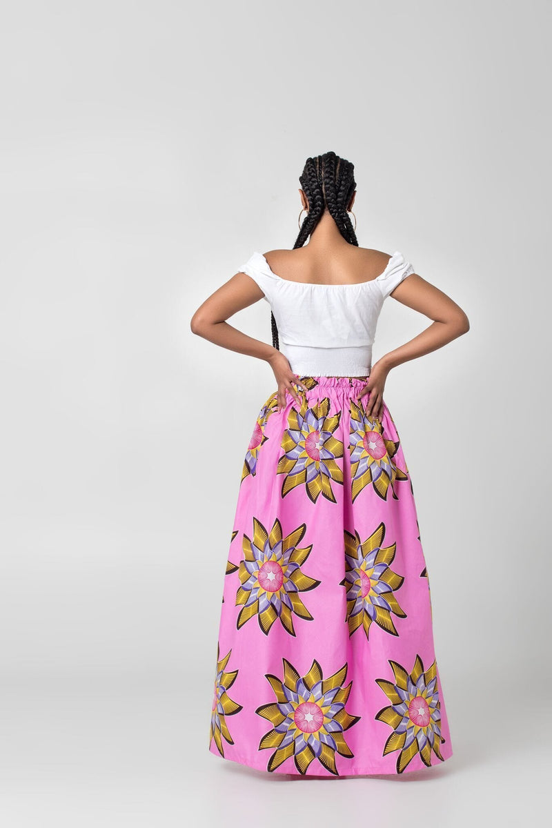Grass-Fields Maxi Skirt African Print Doris Maxi Skirt