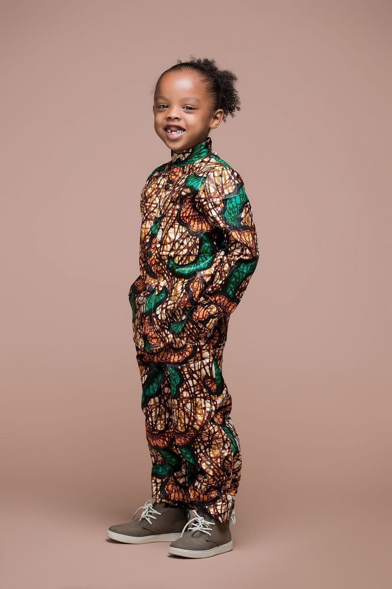 Grass-Fields Mid Lenght Dresses 10 years African Print Suni Kid's Shirt