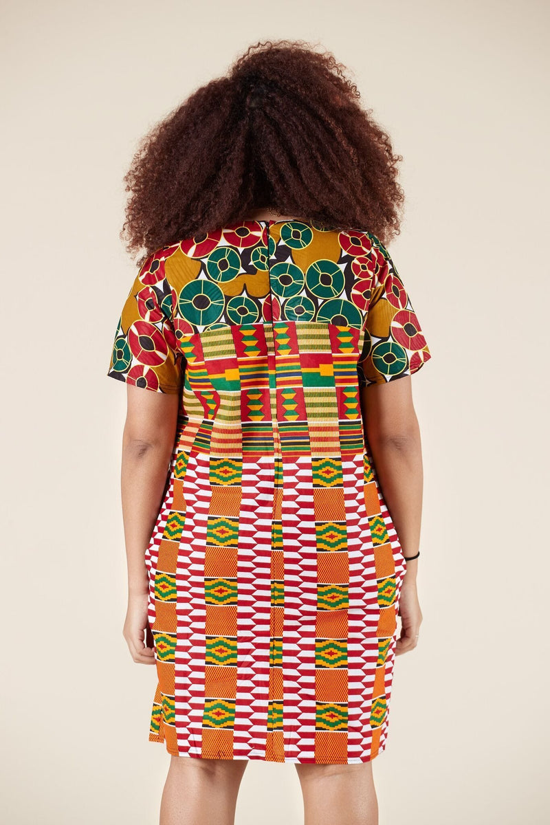 African Print Abeba Shift Dress
