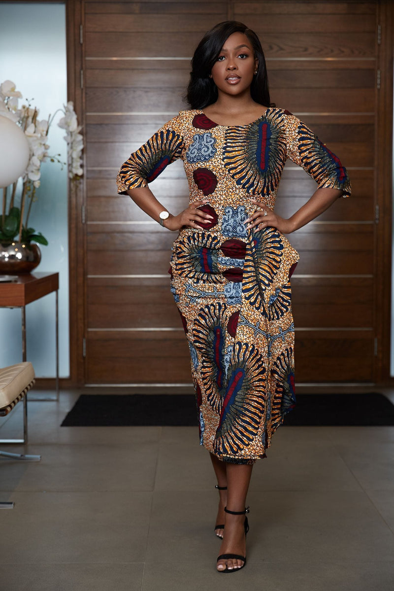 African Print Ahnika Dress