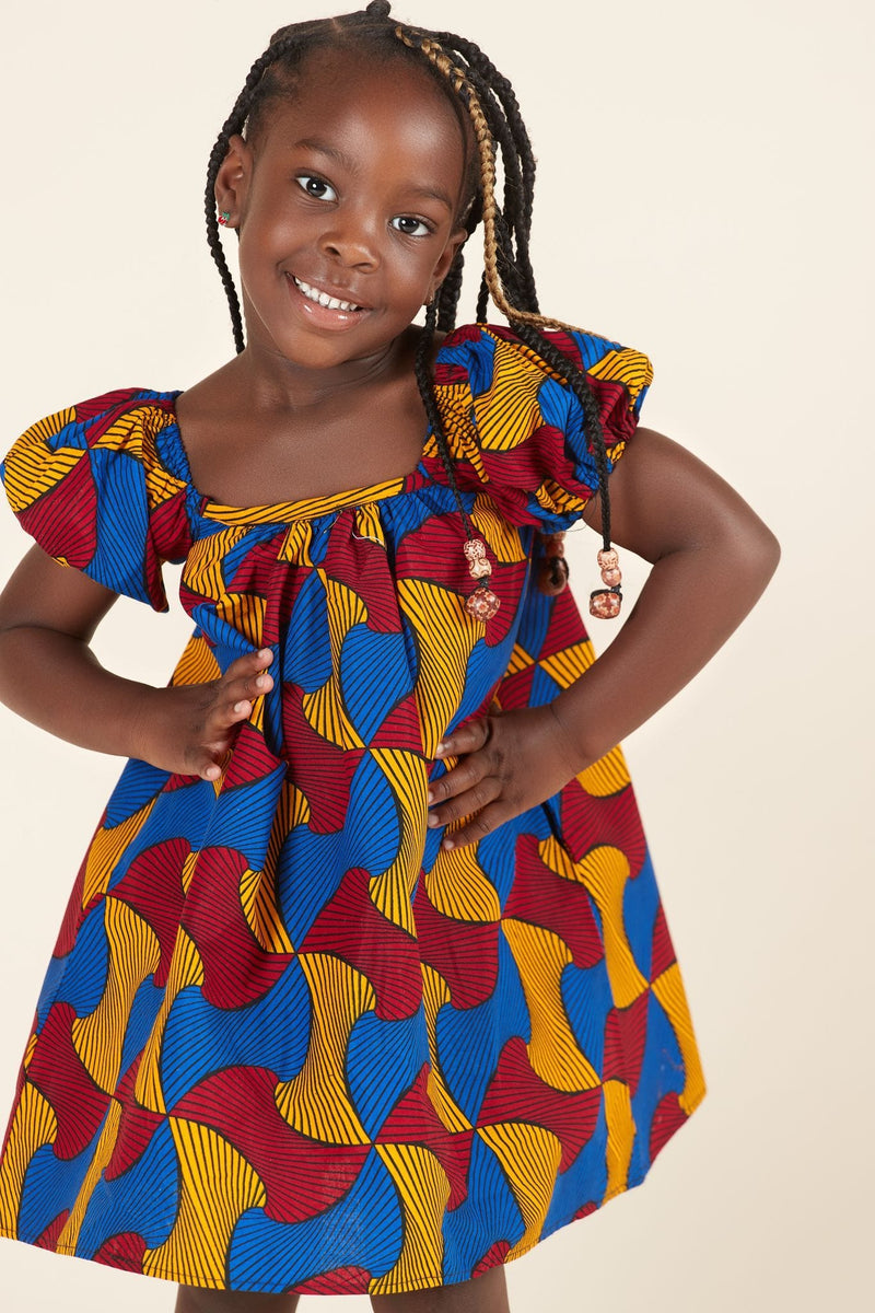 African Print Akua Kid's Dress