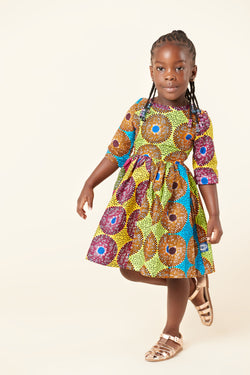 African Print Amaiya Kid's Dress