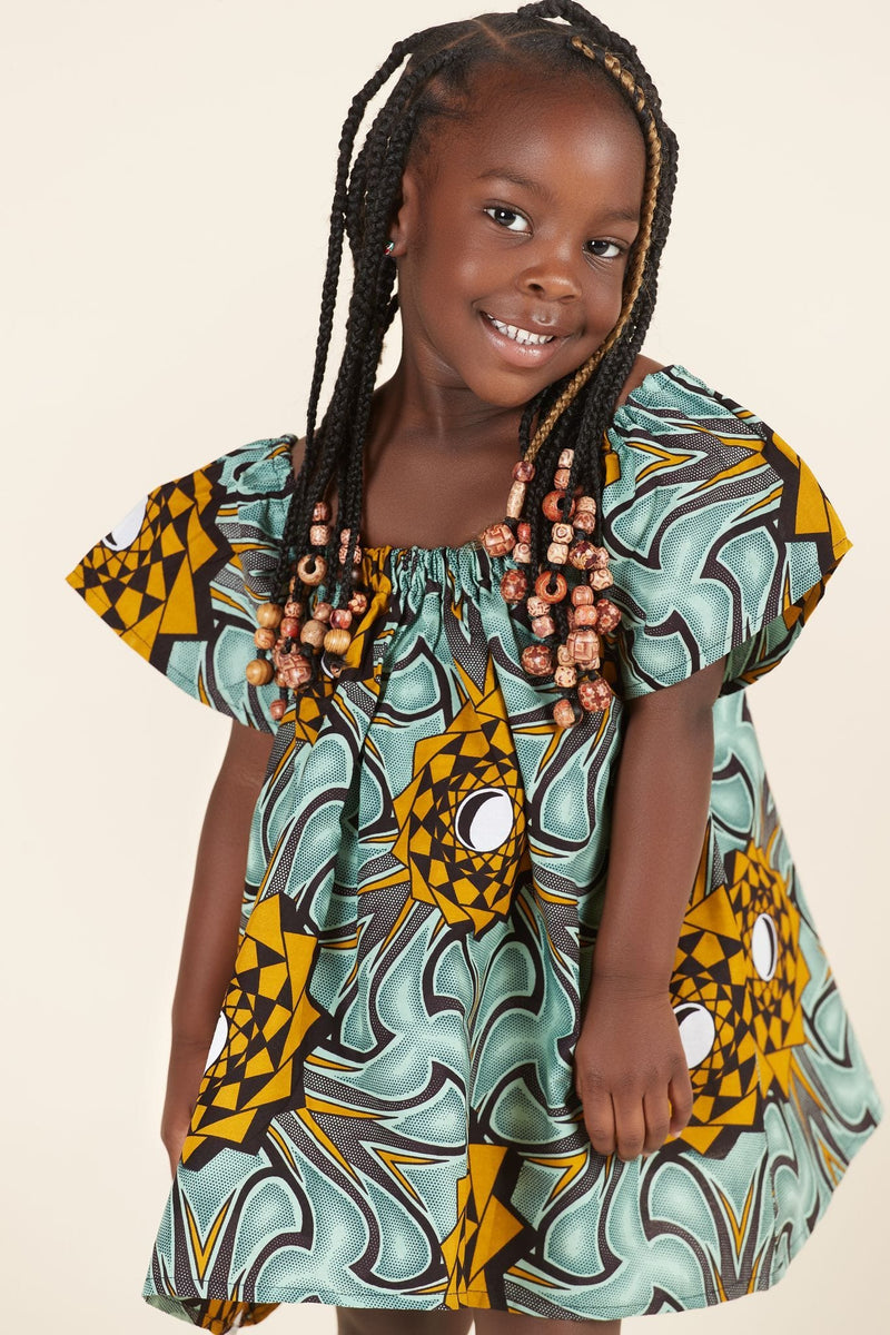 African Print Annabel Kid's Dress