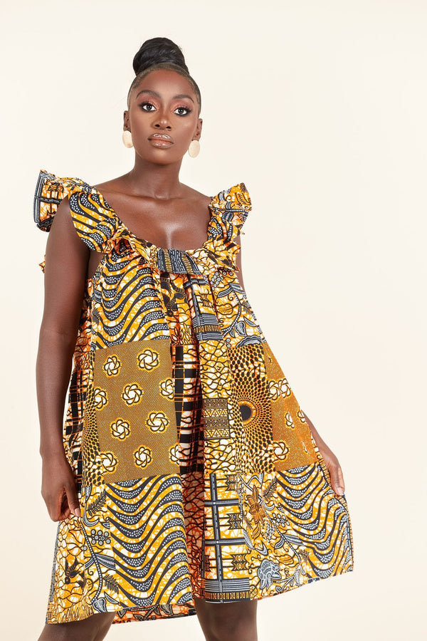 Grass-Fields Mid Lenght Dresses African Print Charlotte dress
