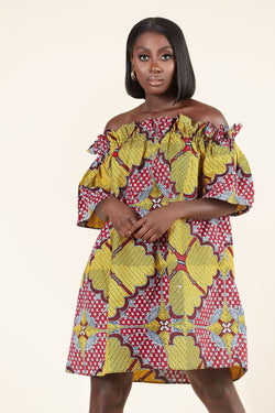 African Print Chi Chi Dress
