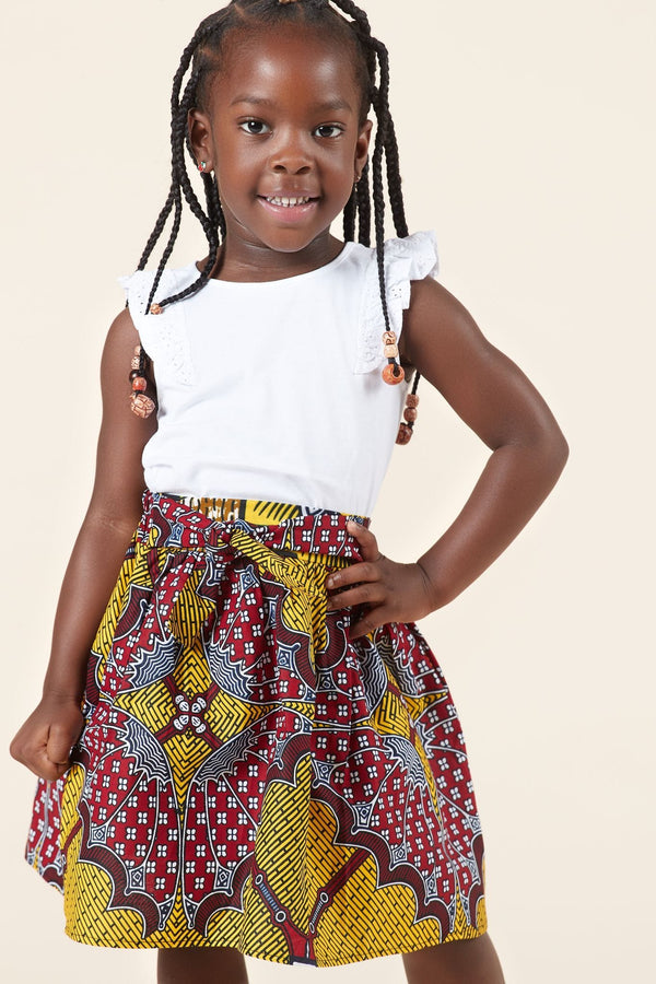 Grass-Fields Mid Lenght Dresses African Print Chi Chi Kid's Skirt