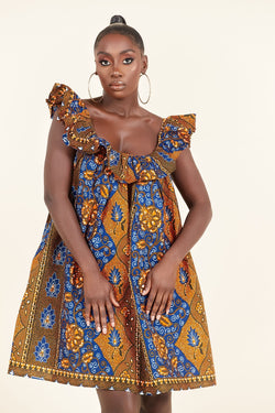 African Print Chima dress