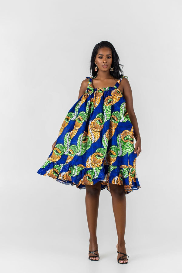 Grass-Fields Mid Lenght Dresses African Print Cyrille Dress