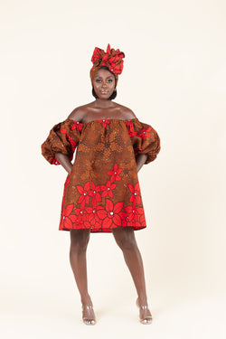 African Print Duvie dress