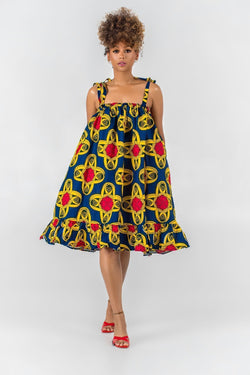 Grass-Fields Mid Lenght Dresses African Print Edwige Dress