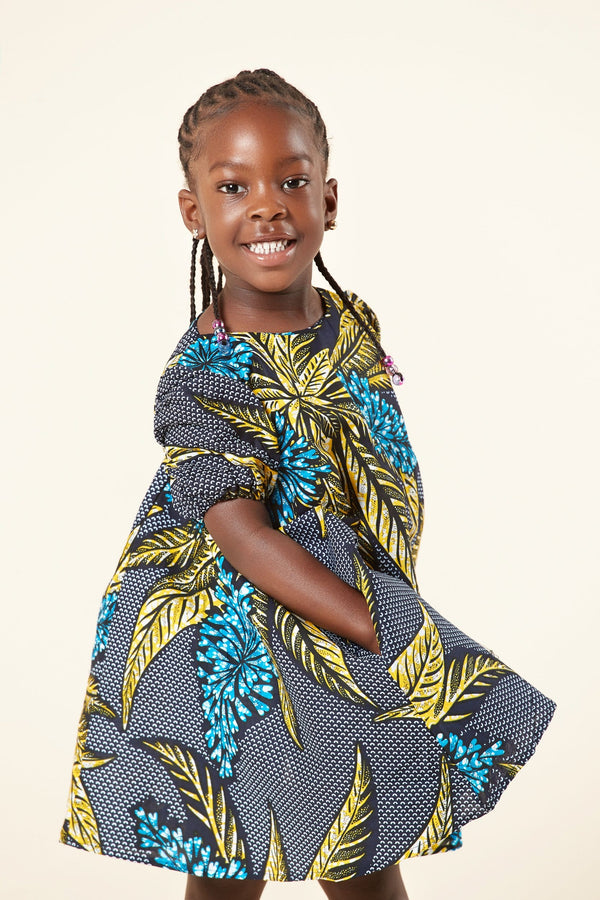 Grass-Fields Mid Lenght Dresses African Print Fadzai Kid's Dress