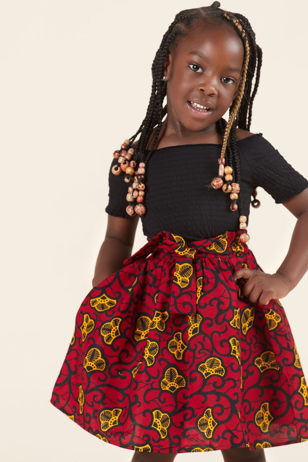 Grass-Fields Mid Lenght Dresses African Print Gina Kid's Skirt