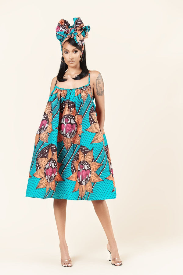 Grass-Fields Mid Lenght Dresses African Print Hannah Dress