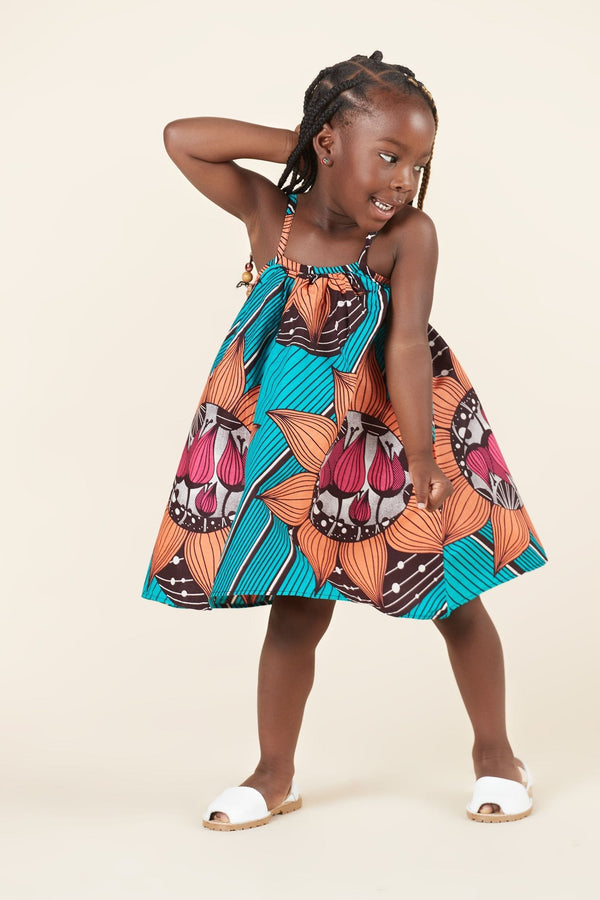Grass-Fields Mid Lenght Dresses African Print Hannah Kid's Dress