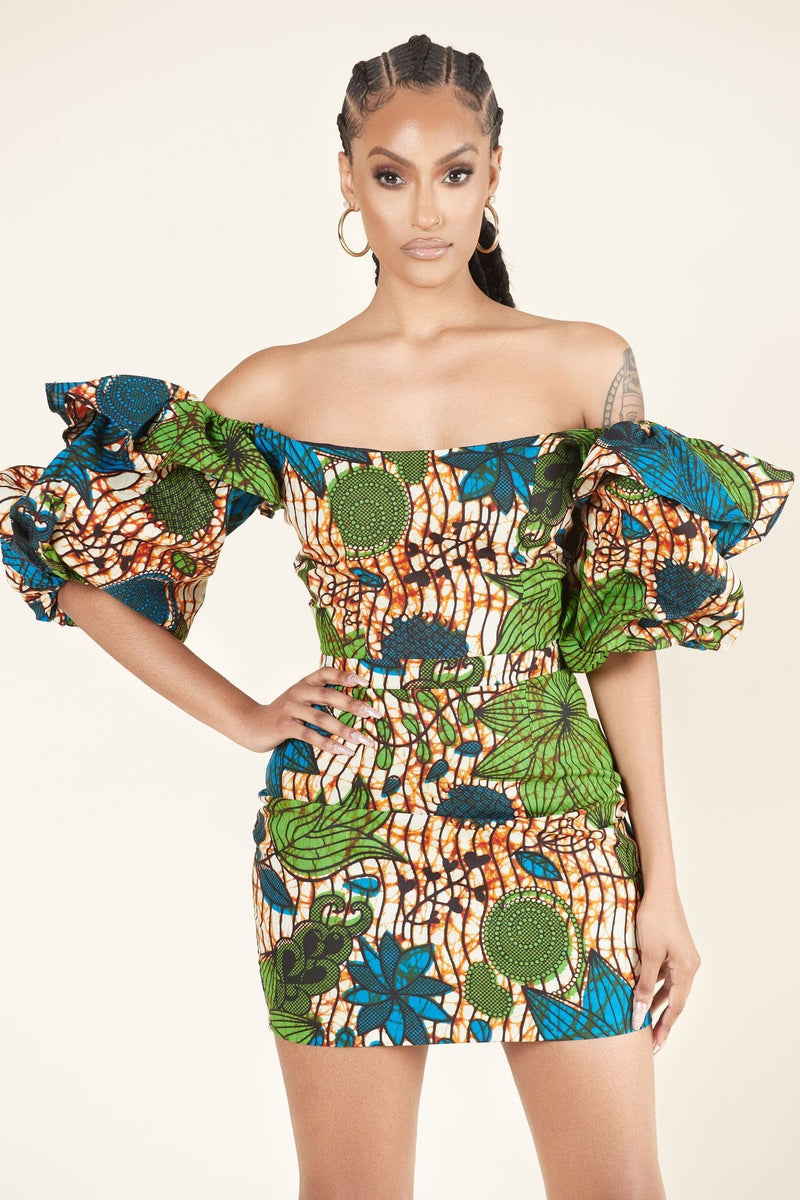 African Print Indra Dress