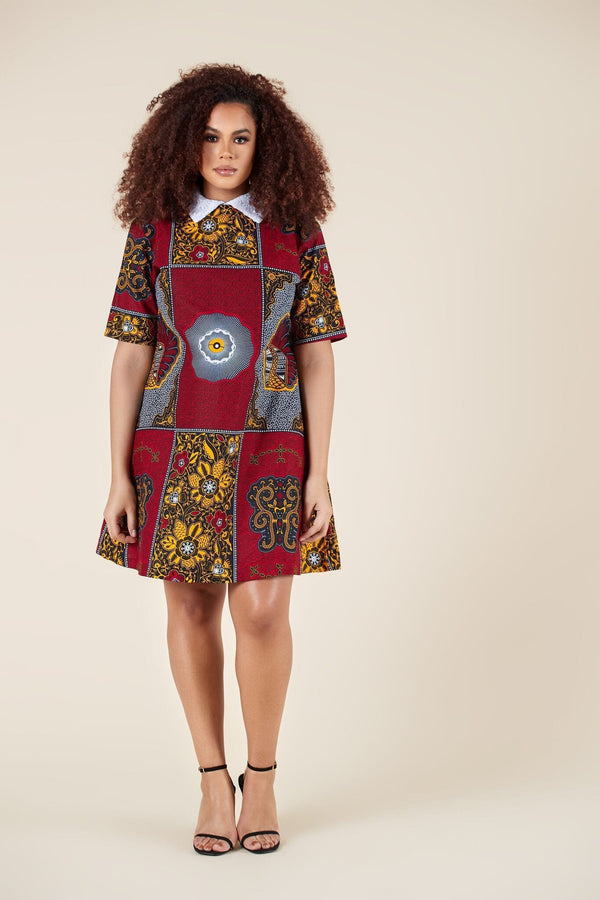 Grass-Fields Mid Lenght Dresses African Print Jada Dress