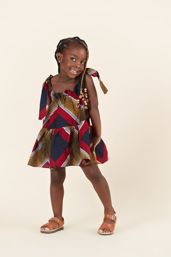 Grass-Fields Mid Lenght Dresses African Print Julie Kid's Dress