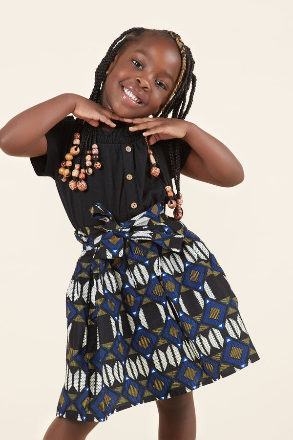 Grass-Fields Mid Lenght Dresses African Print Kelly Kid's Skirt